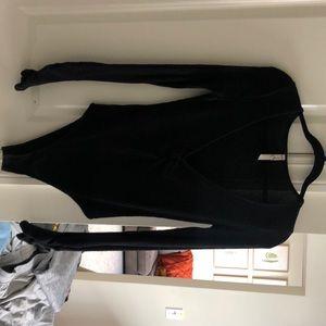 Free People, black, long sleeve body suit